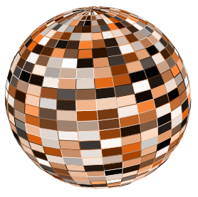 Your finished disco ball!