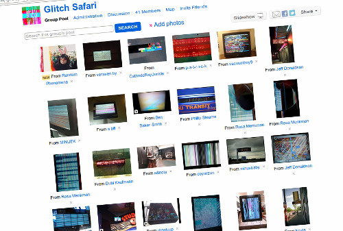 Glitch Safari Flickr group