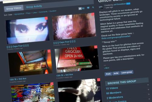 Glitch Safari Vimeo group