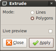 Extrude window