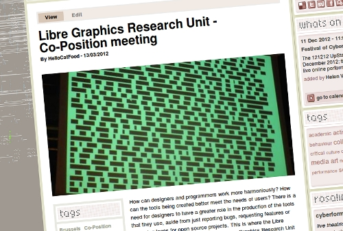Libre Graphics Research Unit on Furtherfield